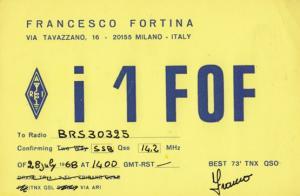 Milan Italy QSL 1960s Old Amateur Italian Radio Postcard