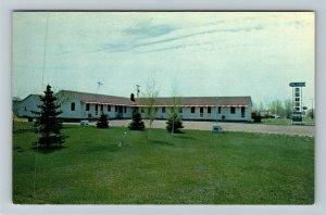 Jamestown ND- North Dakota, Del Caro Motel, Advertising, Chrome Postcard