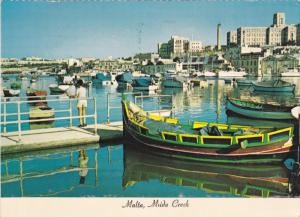Fishing Boat, St. Luke's Hospital, MSIDA CREEK, Malta, 50-70's