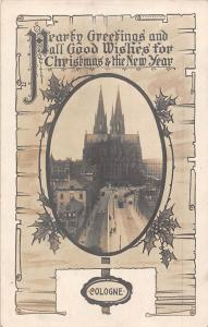 Cologne Cathedral Greetings and all Good Wishes for Christmas The new Year