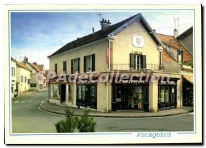 Postcard Modern Semi Fourqueux Le Brittany bar tobacco newspapers lotto