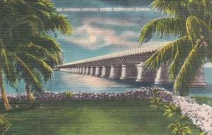 Florida Pigeon Key Overseas Highway Bridge 1955