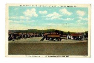 Hot Springs Ark. Postcard Mountain View Tourist Court Hwy 70 Sinclair Gas #75560
