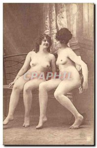 Postcard Old Woman naked erotic