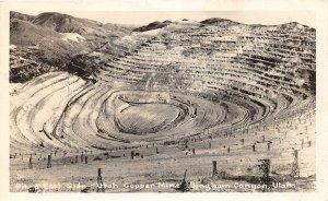 F90/ Bingham Canyon Utah RPPC Postcard 1951 East Side Copper Mine 1