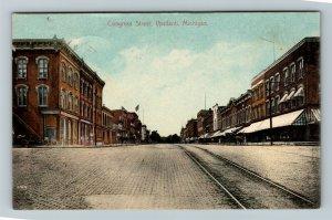 Ypsilanti MI-Michigan, Congress Street, Vintage c1910 Postcard