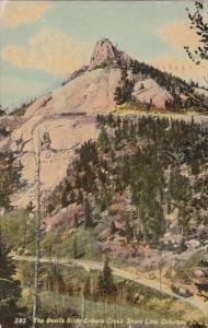 The Devils Slide Cripple Creek Short Line Colorado 1910