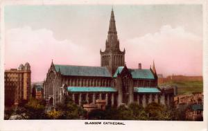 Glasgow Cathedral, Glasgow, Scotland, color real photo postcard unused