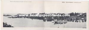 brazil, MANAOS MANAUS, Ëtat de l'Amazone (1920s) Double Panorama Postcard
