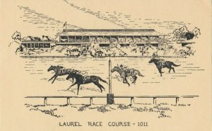 LAUREL , Maryland , 1975 ; Horse Race Track in 1911