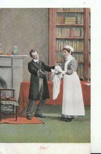 Humour Postcard -Father / Baby and Maid - Ref 16239A
