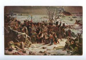 158832 WAR 1812 NAPOLEON from Russia by YVON Vintage postcard