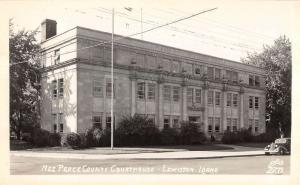 Lewiston Idaho Nez Perce Court House Real Photo Antique Postcard K9246