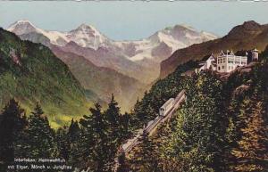 Heimwehfluh Mit Eiger, Monch u. Jungfrau, Interlaken, Berne, Switzerland, 190...