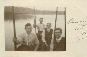 NSW Australia Men River National Park Postcard 21-9702