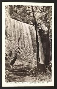 Lower So Falls Trail Silver Creek Park Ore 110 Real Photo