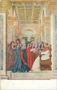 Postcard Old Melozza da Forli Sisto IV Udienza al Platina Roma vaticana
