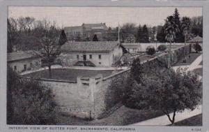 California Sacramento Interior View Of Sutter Fort