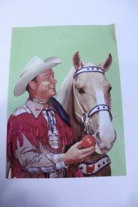 Vintage Roy Rogers with Trigger Promotional Magazine Print Facsimile Autograph