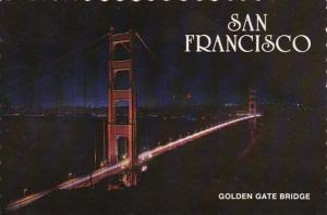 California San Francisco Golden Gate Bridge At Night