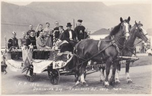 RP: KAMLOOPS , B.C. , Canada , 1923 ; Dominion Day Float
