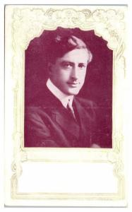 Francis X. Bushman, Actor, Dr. Miles Anti-Pain Pills Advertising Postcard
