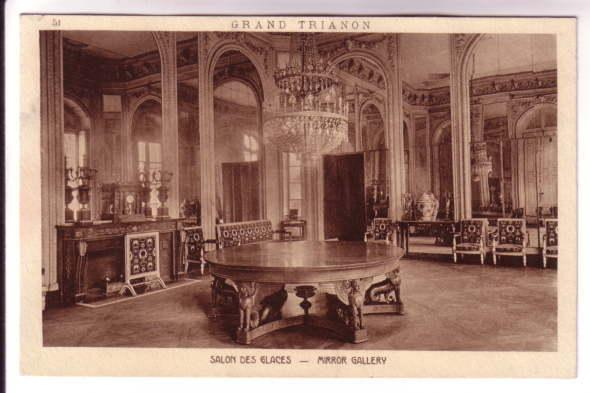 Interior, Grand Trianon, Mirror Gallery, Paris, France