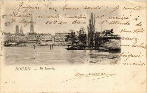 CPA ROUEN-Ile Lacroix (348098)