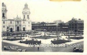 Plaza de Armas Lima, Peru Unused