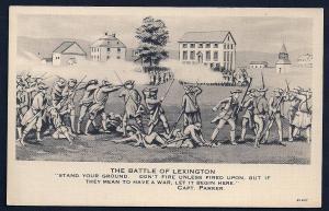 Battle of Lexington Revolutionary War unused c1930's