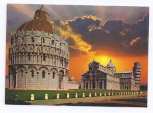 Italy Pisa Cathedral Il Duomo Tower Light Color Postcard 4X6