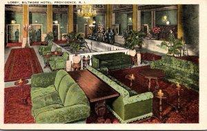 Rhode Island Providence Biltmore Hotel Lobby