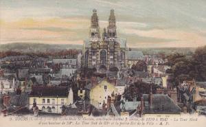 La Cathedrale St. Galien, La Tour Nord & La Tour Surd, Indre et Loire, France...