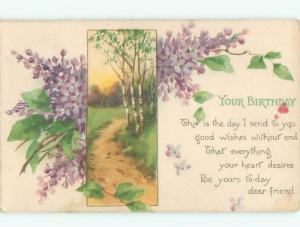 Divided-Back BEAUTIFUL FLOWERS SCENE Great Postcard AA2611