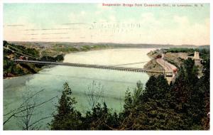 19089  NY  Lewiston  Suspension bridge from Queenston Ont