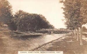 LPS68 Bobcaygeon Ontario ONT Canada Canal and Park Bridge Postcard