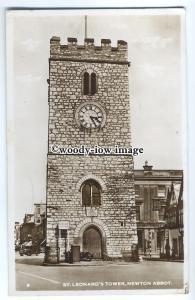 tp9111 - Devon - St. Leonard's Tower & Cafe c1952s, at Newton Abbot - postcard