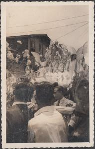 Costa Rica - Two B&W Photos of Religious Procession