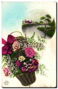 Old Postcard Fantasy Flowers