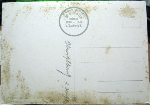 Postcard Dbesucht die Walhalla erbaut Ludwig I - posted damaged Munchen