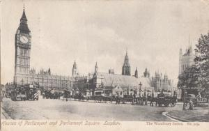United Kingdom, London, Houses of Parliament and Parliament Square, early 1900s