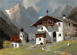 Art Painting: Austria Bergheimat Gasthof Pension Hotel, Kothmair Signed