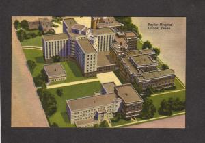 TX Baylor Univ University Hospital Dallas Texas Postcard Carte Postale Truett