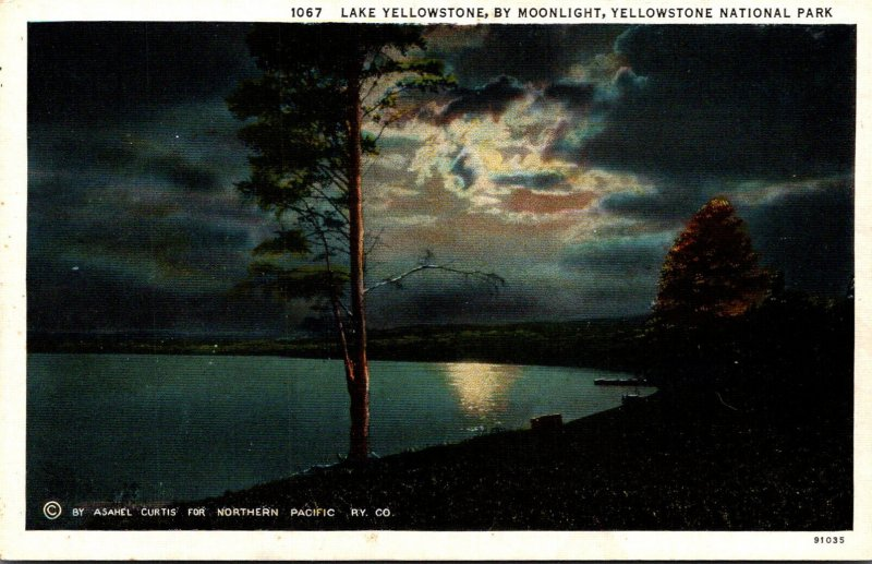 Yellowstone National Park Lake Yellowstone By Moonlight Curteich