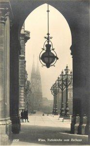 Postcard Austria Wien Votiv church and City hall