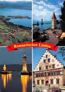Romantisches Lindau im Bodensee Leuchtturm Statue Lighthouse Town Hall