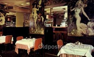 Café Des Artistes, New York City, NYC USA Restaurant Old Vintage Antique Pos...