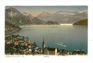 Birds Eye View, Weggis (Lucerne), Switzerland, 1900-1910s