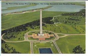 Houston, TX - Air View of San Jacinto Monument - 1944
