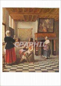 Postcard Modern National Gallery P Hooch Interior of a Dutch House